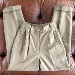 Vintage Ralph Lauren Wool High Rise Trousers